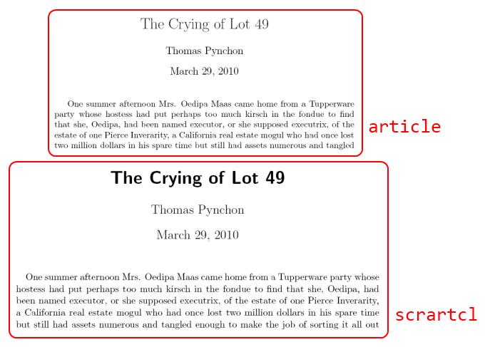 Latex article font