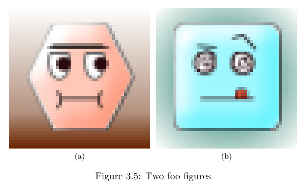 Two subfigures in a figure in LaTeX