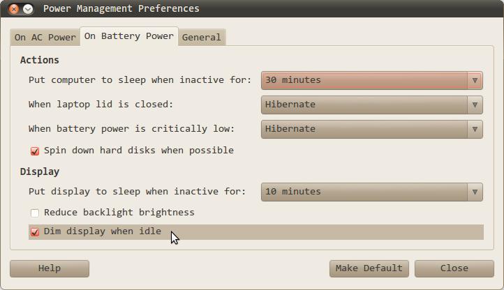 Ubuntu: Dim Display When Idle – Code Yarns
