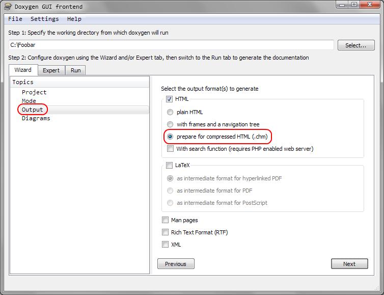 Doxygen: Generating CHM – Code Yarns 👨 💻