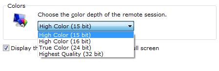 Windows 7: 256 Colors in Remote Desktop Connection – Code