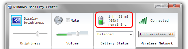 Windows 7: Keyboard Shortcut for Battery Meter – Code Yarns