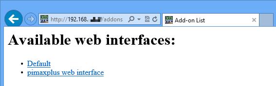 Raspbmc web interface addons