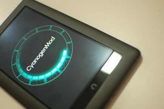 CyanogenMod 10 booting up on the Nook Color