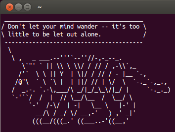 Cowsay-Fortune greeting
