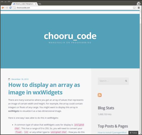 ChooruCode crosses 1 million views