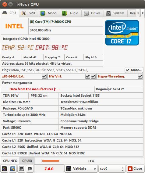 i-Nex on Ubuntu 14.04