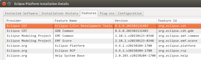 Compared to Eclipse CDT package, my Eclipse C++ IDE has very few features and plugins