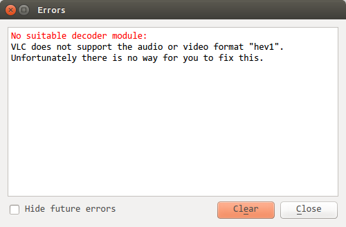VLC does not support hev1 – Code Yarns