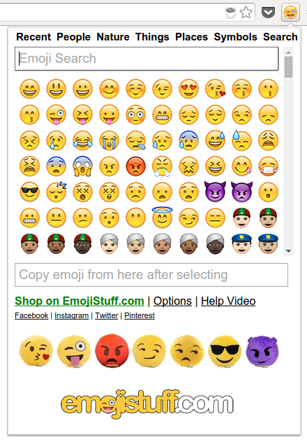 Emoji Input extension for Chrome – Code Yarns 👨 💻