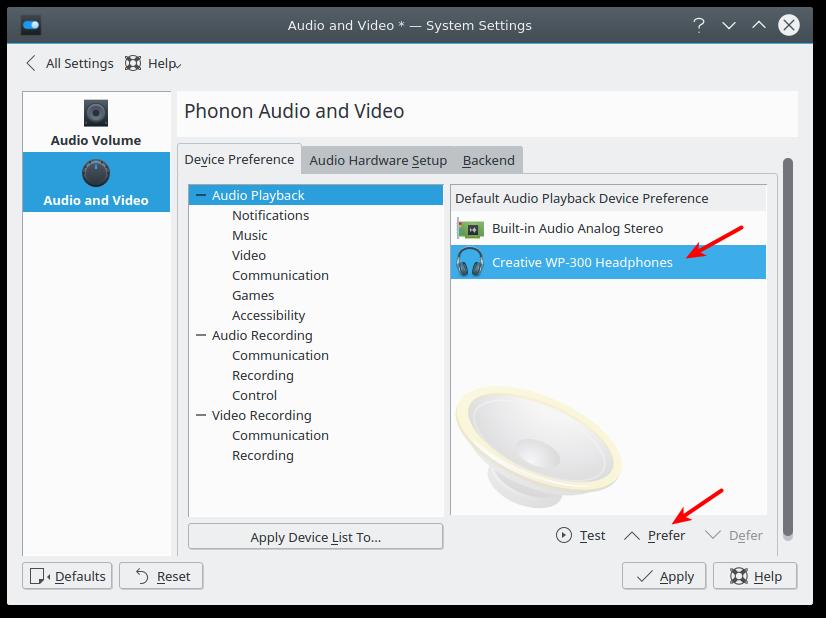 Configuring Bluetooth headphones