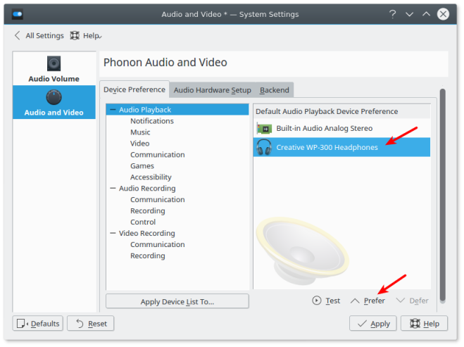 Configuring Bluetooth headphones